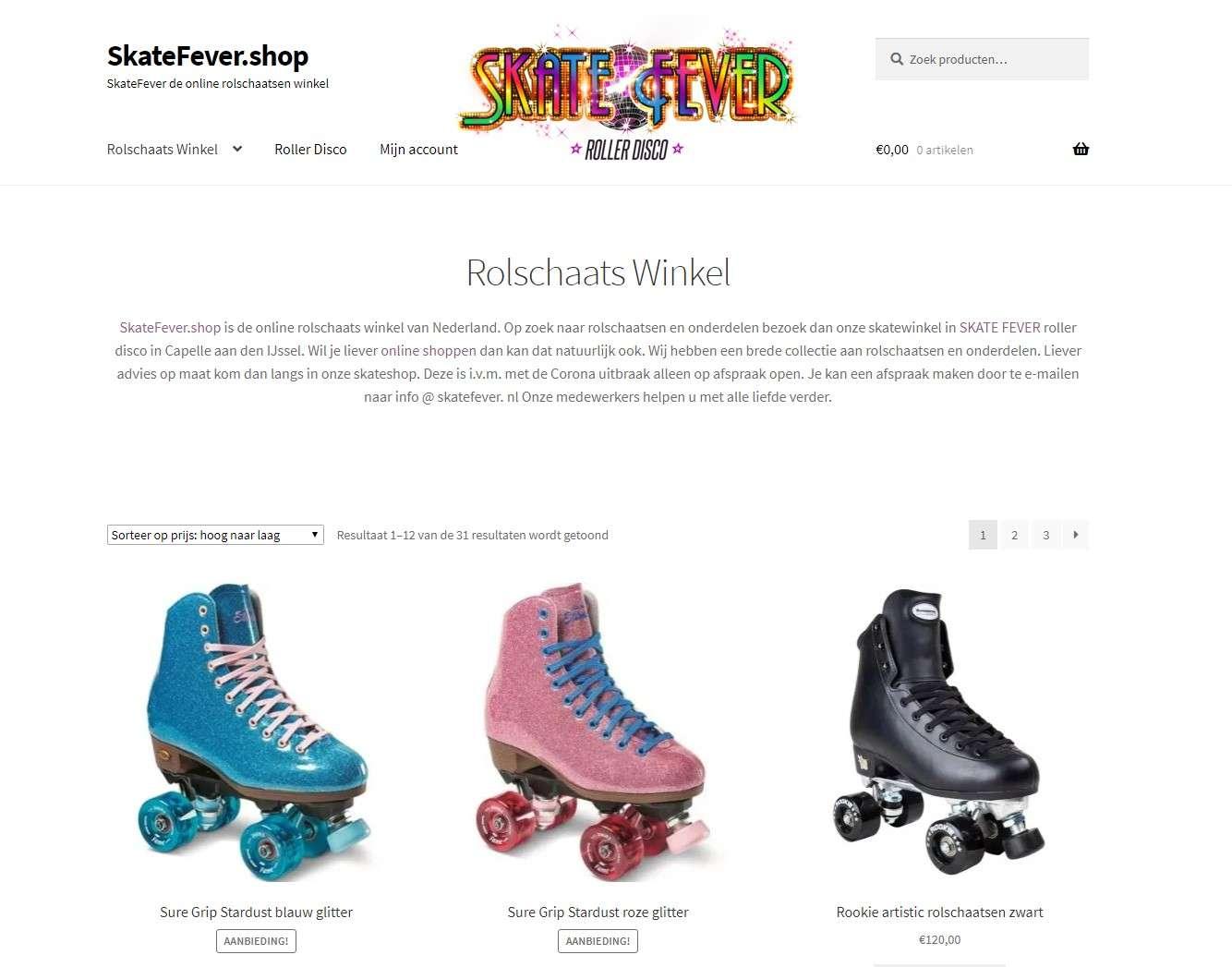 Skatefever shop Referenties onlinewebshop.eu