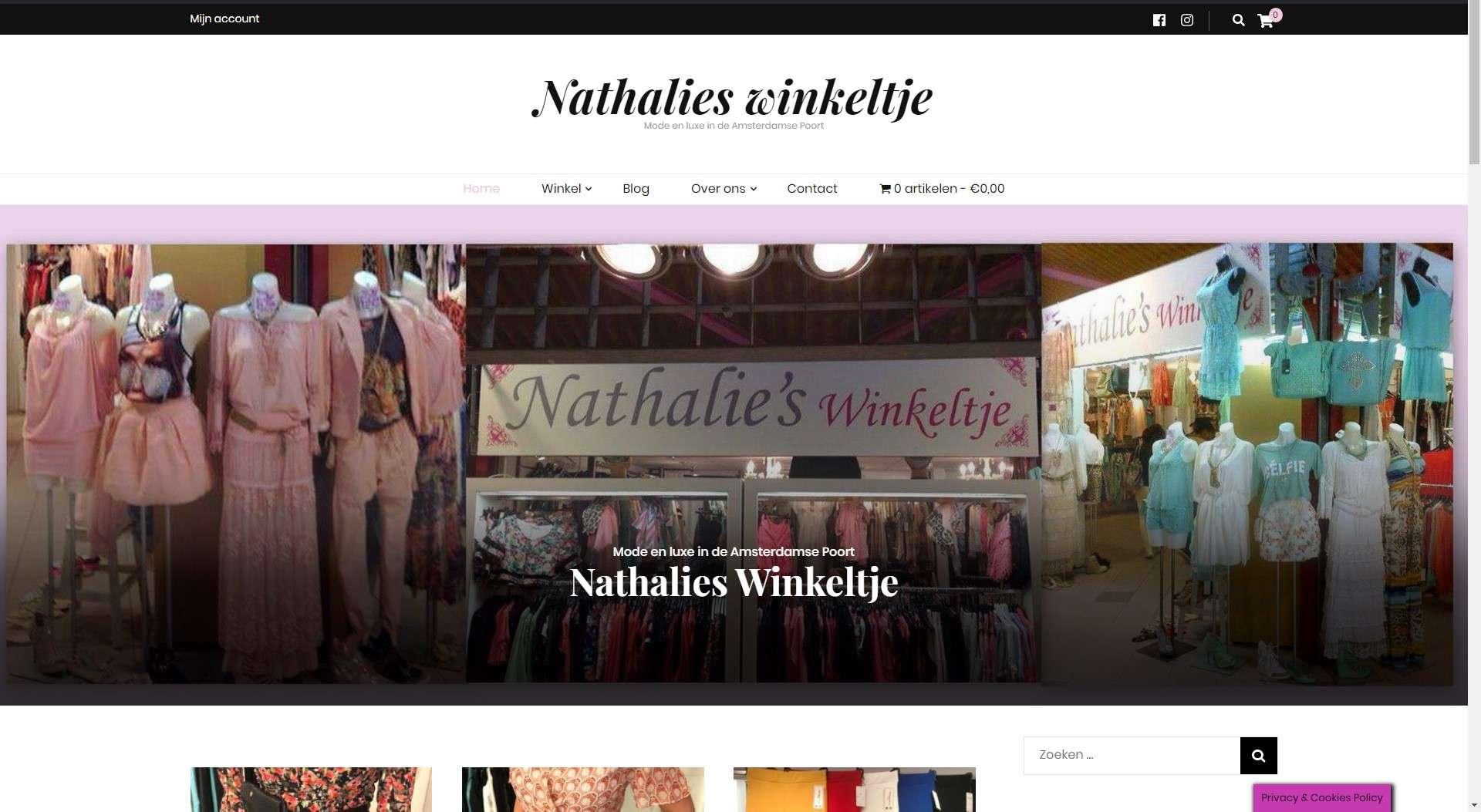 Nathalieswinkeltje de leukste modewinkel in de Amsterdamse shopperhal. Referenties onlinewebshop.eu