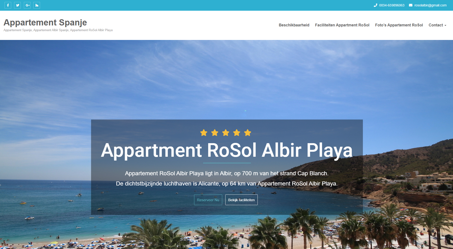 Appartement Spanje RoSol, airbnb website. Referenties onlinewebshop.eu