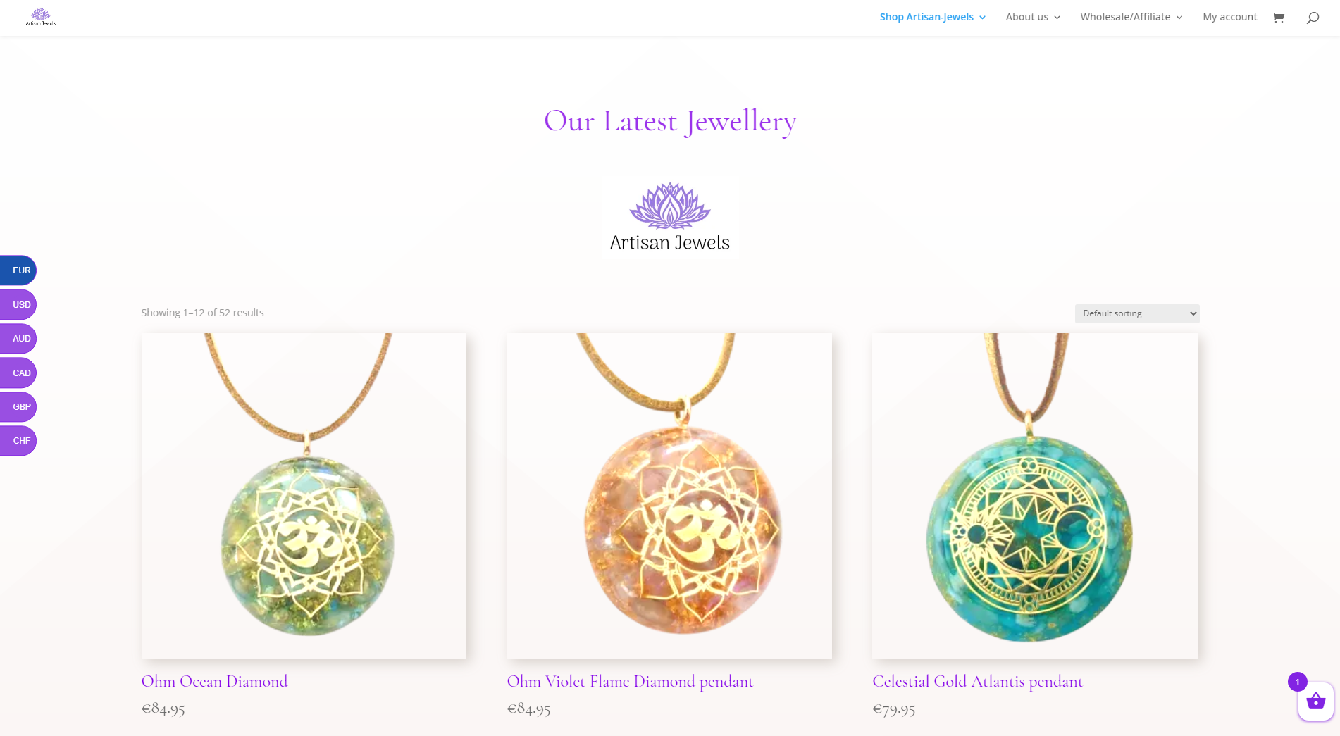 Webwinkel voor Artisan-Jewels.com