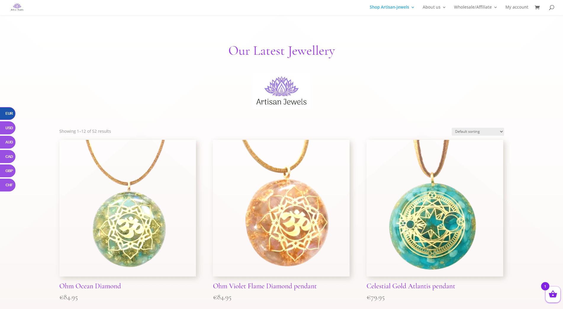 Webwinkel: Artisan-jewels.com